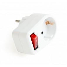 Сетевой фильтр EnerGenie (EG-AC1S-01-W) с выключателем 1 розетка 16A White