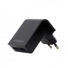 Адаптер сетевой EnerGenie 2USB 2.1A Black (EG-U2C2A-02)