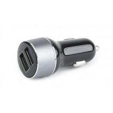 Адаптер автомобильный EnerGenie 2USB 2.1A QC3.0 Black (EG-U2QC3-CAR-01)