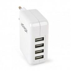 Адаптер сетевой EnerGenie 4USB 2.1A White (EG-U4AC-02)