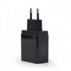 Адаптер сетевой EnerGenie 1USB 2.1A QC3.0 Black (EG-UQC3-01)