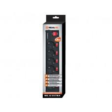Сетевой фильтр REAL-EL RS-6 EXTRA 6 розеток 1.8m 10A Black