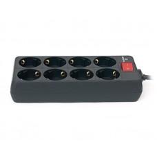 Сетевой фильтр REAL-EL RS-8 PROTECT 8 розеток 1.8m 16A Black