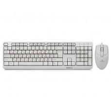 Комплект клавиатура + мышь REAL-EL Standard 505 Kit White USB
