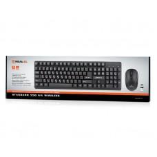 Комплект клавиатура + мышь Wireless REAL-EL Standard 550 Kit Black USB