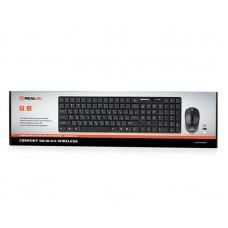 Комплект клавиатура + мышь Wireless REAL-EL Comfort 9010 Kit Black USB