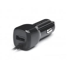 Зарядное устройство автомобильное REAL-EL CA-15 2USB 2.1A Black + cable USB-MicroUSB