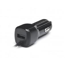 Зарядное устройство автомобильное REAL-EL CA-17 1USB 2.1A Black + cable Lightning