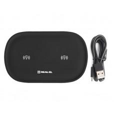 Беспроводное зарядное устройство REAL-EL WL-780 Wireless 3A 20W Black