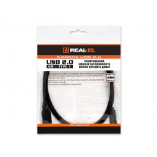 Кабель USB-Type-C REAL-EL 1m Black (EL123500016)