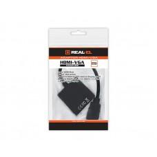 Адаптер HDMI-VGA REAL-EL 0.15m Black (EL123500020)