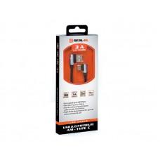 Кабель USB-Type-C REAL-EL Premium 1m Black