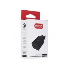 Адаптер сетевой Ergo 18W 1USB 3A QC3.0 Black (EWC-130QC)