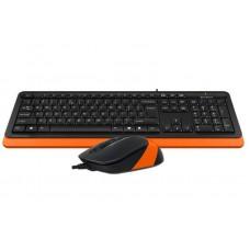 Комплект клавиатура + мышь A4Tech F1010 Black/Orange USB