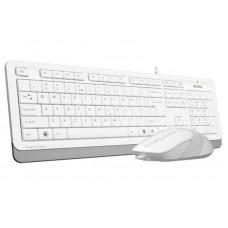 Комплект клавиатура + мышь A4Tech F1010 White USB