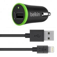 Зарядное устройство автомобильное Belkin BoostUp 1USB 2.4A Black (F8J121bt04-BLK) + cable Lightning