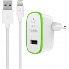 Зарядное устройство сетевое Belkin 1USB 2.4A White (F8J125vf04-WHT) + cable USB-Lightning