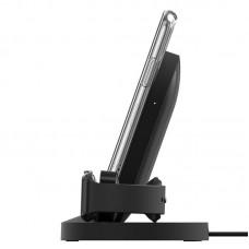 Беспроводное зарядное устройство Belkin Qi Wireless 2 в 1 iWatch 7.5W 1A Black (F8J235VFBLK)