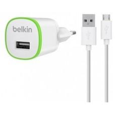 Зарядное устройство сетевое Belkin 1USB 2.4A White (F8J025vf04-WHT) + cable USB-MicroUSB