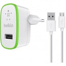 Зарядное устройство сетевое Belkin 1USB 2.4A White (F8M886vf04-WHT) + cable USB-MicroUSB