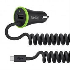 Зарядное устройство автомобильное Belkin Boost Up 1USB 3.4A Black + cable MicroUSB