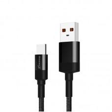 Кабель USB-Type-C Grand-X 1m Fast Сharge Black (FC-03)