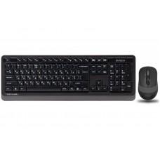 Комплект клавиатура + мышь Wireless A4Tech FG1010 Black/Grey USB