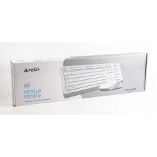 Комплект клавиатура + мышь Wireless A4Tech Bloody FG1010 White USB