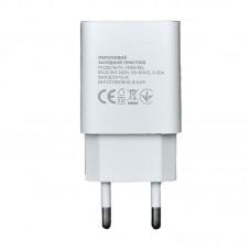Зарядное устройство сетевое Florence 1USB 2A White (FL-1020-WL) + cable USB-Lightning