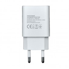 СЗУ Florence 1USB 2A White (FL-1020-WT) + cable USB-Type-C