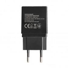 Зарядное устройство сетевое Florence 2USB 2A Black (FL-1021-KT) + cable USB-Type-C