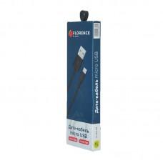 Кабель USB-MicroUSB Florence 2A 1m Black (FL-2110-KM)