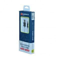 Кабель USB-MicroUSB Florence 3A 1m Black (FL-2200-KM)
