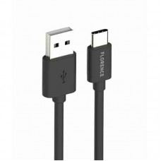 Кабель USB-Type-C Florence 3A 1m Black (FL-2200-KT)
