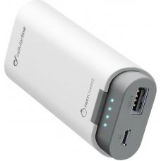 УМБ Power Bank Cellularline FreePower 5200mAh 1USB 2A White (FREEP5200W)