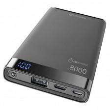 УМБ Cellularline FreePower Manta USB-C 8000mAh 2USB 2.1A Black (FREEPMANTA8USBCK)