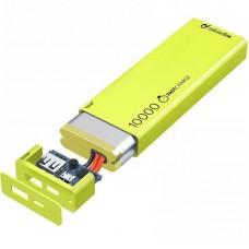 УМБ Cellularline FreePower Slim 10000mAh 1USB 2.1A Green (FREEPSLIM10000G)