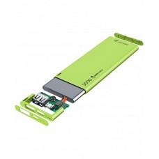 УМБ Cellularline FreePower Slim 3000mAh 1USB 2.1A Green (FREEPSLIM3000G)