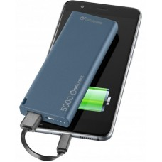 УМБ Cellularline FreePower Slim 5000mAh 1USB 2.1A Blue (FREEPSLIM5000B)