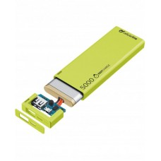 УМБ Cellularline FreePower Slim 5000mAh 1USB 2.1A Green (FREEPSLIM5000G)