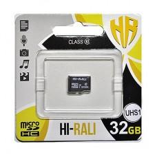 Карта памяти MicroSDHC 32GB UHS-I Class 10 Hi-Rali (HI-32GBSD10U1-00)