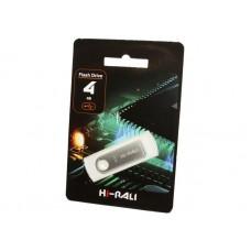 Флешка USB 2.0 4GB Hi-Rali Shuttle Series Silver (HI-4GBSHSL)