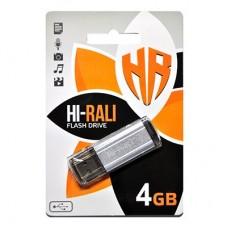 Флешка USB 2.0 4GB Hi-Rali Stark Series Silver (HI-4GBSTSL)