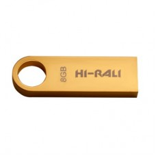Флешка USB 2.0 8GB Hi-Rali Shuttle Series Gold (HI-8GBSHGD)