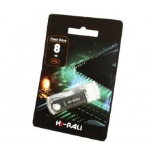 Флешка USB 2.0 8GB Hi-Rali Shuttle Series Silver (HI-8GBSHSL)