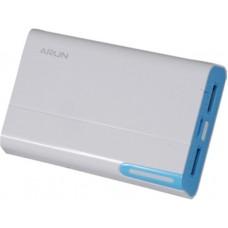 УМБ Arun Y39 8400mAh 2USB 2.1A White/Blue (IR0681)