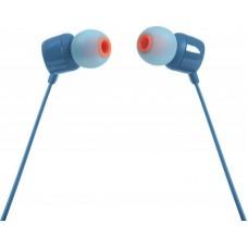 Наушники гарнитура вакуумные JBL T110 Blue (JBLT110BLU)