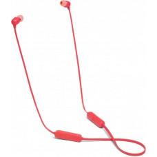 Наушники гарнитура вакуумные Bluetooth JBL Tune 115BT Coral Red (JBLT115BTCOR)