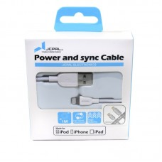 Кабель JCPal USB-Lightning 1m White (JCP6022)