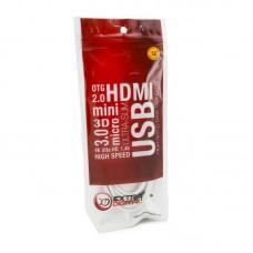 Адаптер HDMI-VGA Extradigital 0.15m White (KBH1645)